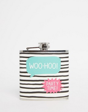 Happy Jackson Party Time Hip Flask