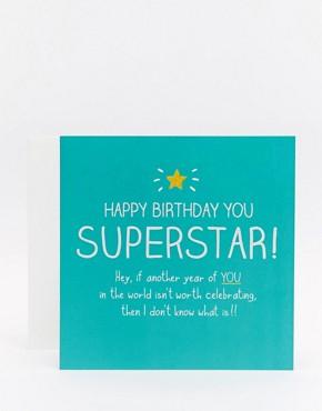 Happy Jackson Superstar Birthday Card