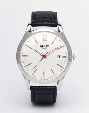 Henry London Highgate Watch With Leather Strap