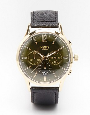 Henry London Chiswick Chronograph Watch Wirh Leather Strap