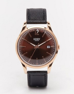 Henry London Harrow Watch With Leather Strap