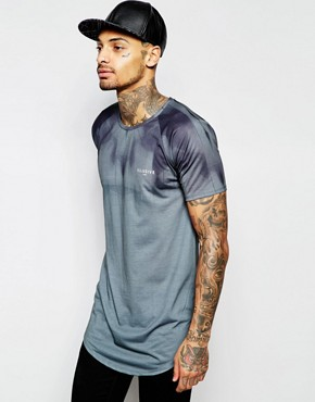 Illusive London Longline T-Shirt With All Over Print