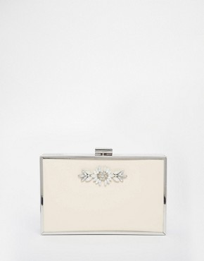 Johnny Loves Rosie Exclusive Rectangular Box Clutch With Jewels