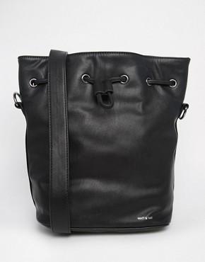 Matt & Nat Bucket Bag with Drawstring Tie