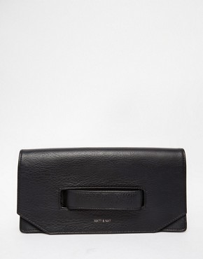 Matt & Nat Aboki Fold Over Clutch with Hand Grab in Black