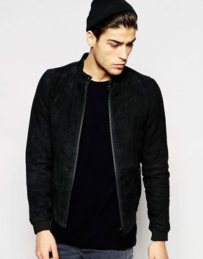 Minimum Suede Bomber Jacket