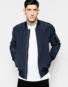 Minimum Bomber Jacket In Navy