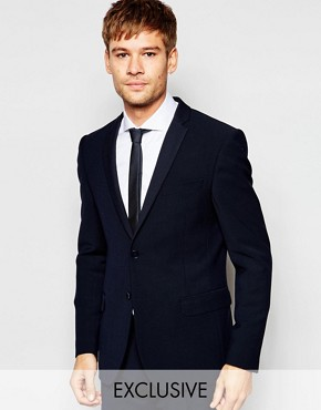 Number Eight Savile Row Exclusive Travel Suit Jacket with Stretch in Skinny Fit