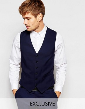 Number Eight Savile Row Exclusive 5 Button Waistcoat in Skinny Fit