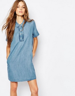 Paul and Joe Sister Denim A-Line Mini Dress