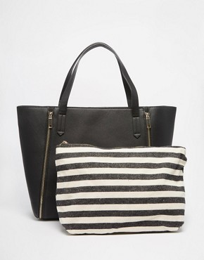 Pimkie Zip Detail Shopper with Removable Compartment