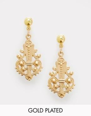 Regal Rose Kingdom Gold Drop Earrings