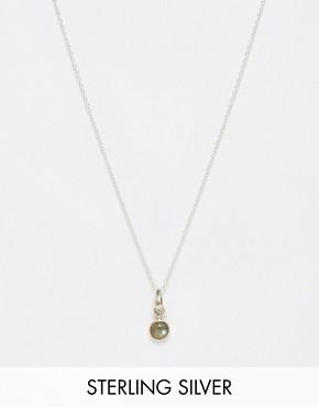 Regal Rose Simple Labradorite Necklace