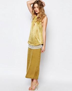 Stevie May Menkar Maxi Dress in Moss Green