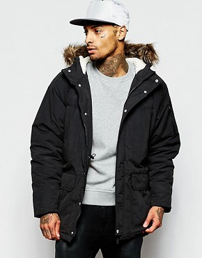 Supremebeing Parka Jacket With Faux Fur Hood