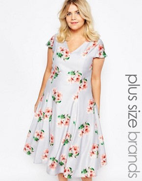 Truly You Plunge Midi Dress