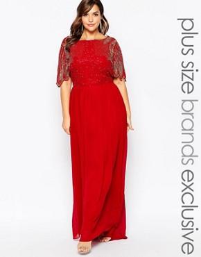 Virgos Lounge Plus Lena Maxi Dress With Embellishment