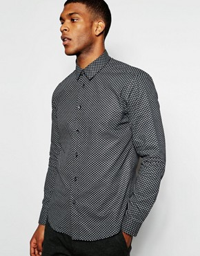 Wincer & Plant Smart Shirt with Paisley Print Slim Fit