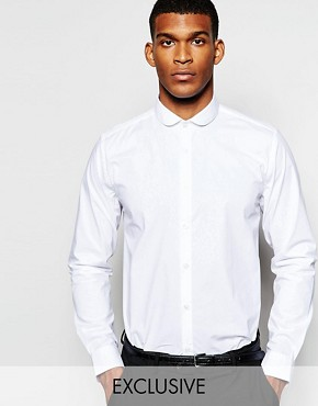 Wincer & Plant Smart Shirt in Stretch Cotton with Penny Collar Slim Fit EXCLUSIVE