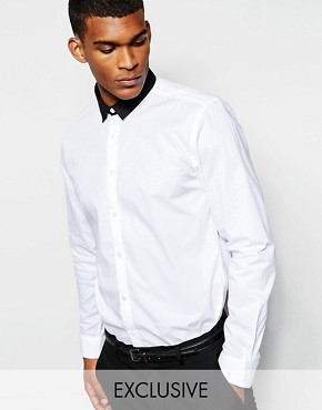 Wincer & Plant Smart Shirt with Contrast Small Collar Slim Fit EXCLUSIVE