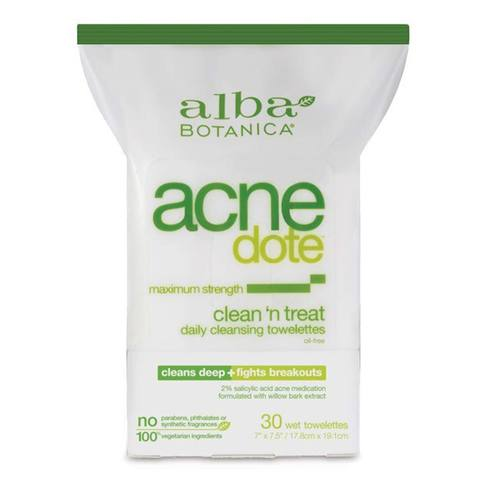 Alba Botanica AcneDote Clean 'n Treat Towelettes