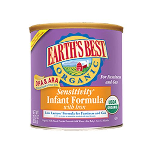 Earth's Best Organic Sensitivity Infant Formula with DHA and ARA