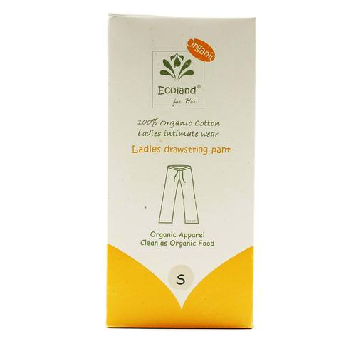 Ecoland Ladies Drawstring Pant, Natural, Small