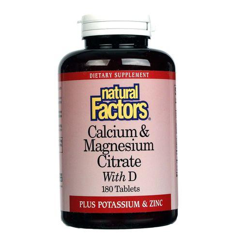 Natural Factors Calcium & Magnesium Citrate With D