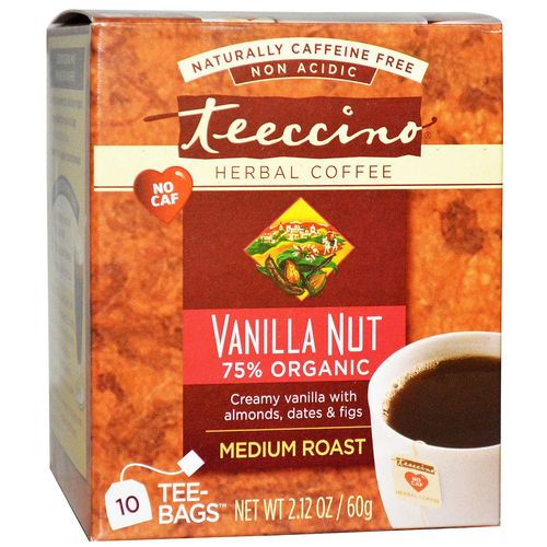 Teeccino Herbal Coffee Vanilla Nut Medium Roast