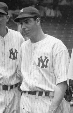 In 1941,                                 Joe DiMaggio                                set an MLB record with a 56-game hitting streak that stands to this day and will probably never be broken