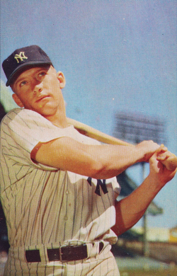 Mickey Mantle                                was one of the franchise's most celebrated hitters, highlighted by his home run chase with Roger Maris in 1961