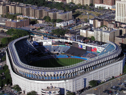 During 1974 and 1975,                                 Yankee Stadium                                was renovated into its final shape and structure, as shown here in 2002
