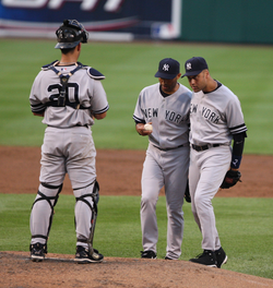The Yankees' success in the late 1990s and early 2000s was built from a                                 core of productive players                                , including                                 Jorge Posada                                ,                                 Mariano Rivera                                , and                                 Derek Jeter                                .