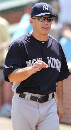Former Yankees catcher                                 Joe Girardi                                became manager in 2008.