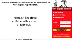 One simple trick for rock hard                                                Erections