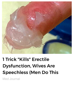 "A variant about ""1 trick"" to end erectile dysfunction"