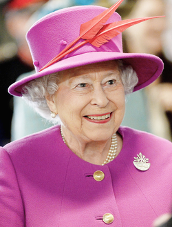 Elizabeth II, Queen of New Zealand since 1952.
