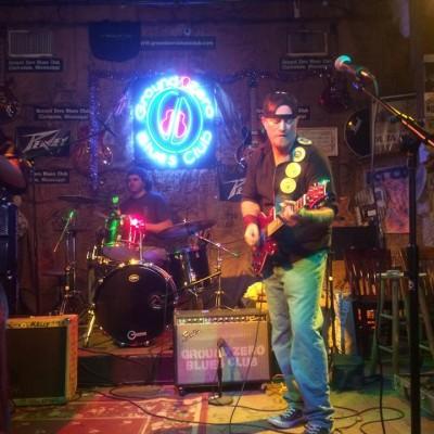 Onstage at Ground Zero Blues Club