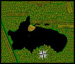 Map of Thoreau sites at Walden Pond