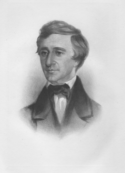 Portrait of Thoreau from 1854