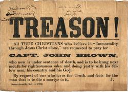 "John Brown ""Treason"" Broadside, 1859"