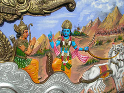 Krishna teaching Arjuna from                                                   Bhagavata Gita                                  ,                                a text Thoreau read at Walden Pond