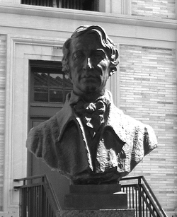 A                                 bust                                of Thoreau from the                                 Hall of Fame for Great Americans                                at the                                 Bronx Community College