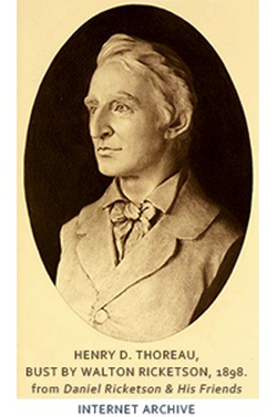 Henry David Thoreau Bust by Walton Rickenson