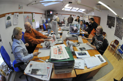 The newsroom of Gazeta Lubuska in                                 Zielona Góra                                , Poland