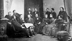 "The editorial staff of newspaper ""Severnyi Kray"" in                                 Yaroslavl                                , Russia in 1900"