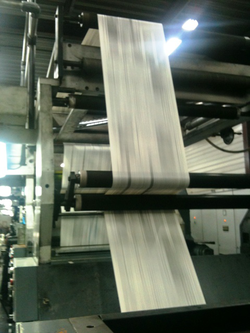 Newspaper press in                                 Limoges                                , France