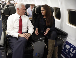 Adelle Nazarian with Mike Pence