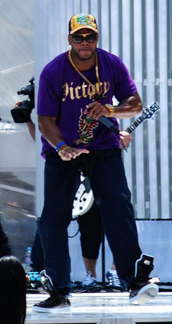 Rehearsing for the 2008 Much Music Video Awards in Toronto