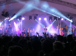 Bastille in concert at Queens' College May Ball, 2013